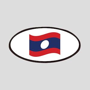 Laos Lao Flag Wave Patches