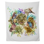 Dinosaur Collage Wall Tapestry