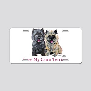 Love my Cairn Terriers Aluminum License Plate