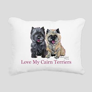 Love my Cairn Terriers Rectangular Canvas Pillow