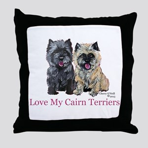 Love my Cairn Terriers Throw Pillow