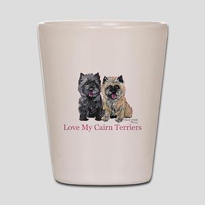Love my Cairn Terriers Shot Glass