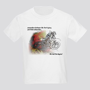 The Real Fun Begins Dirt Bike Motocross T-Shirt