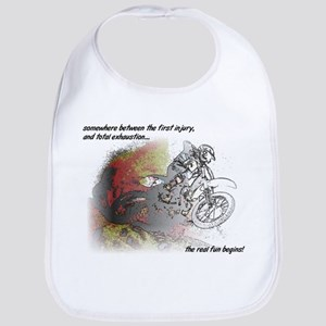 The Real Fun Begins Dirt Bike Motocross Bib