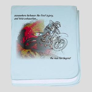 The Real Fun Begins Dirt Bike Motocross baby blank