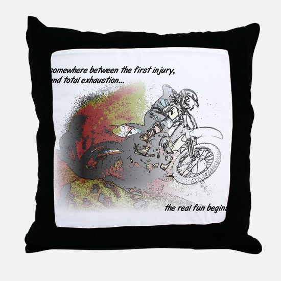 The Real Fun Begins Dirt Bike Motocross Throw Pill