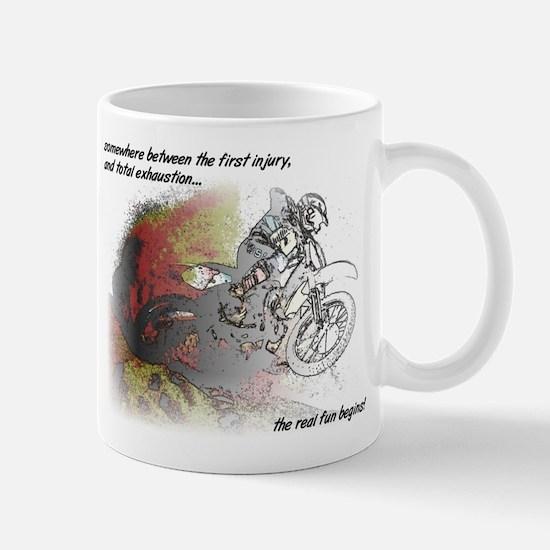 The Real Fun Begins Dirt Bike Motocross Mug