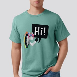 Emoji Unicorn Hi Mens Comfort Colors Shirt
