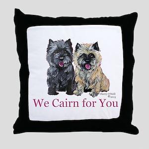 Cairn Terrier Valentine Throw Pillow