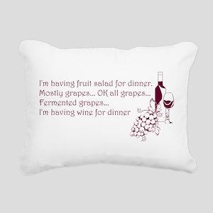 Wine For Dinner Rectangular Canvas Pillow