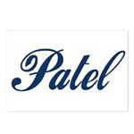 Patel name (blue) Postcards (Package of 8)