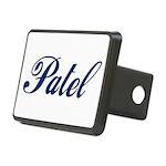 Patel name (blue) Rectangular Hitch Cover
