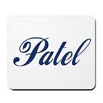 Patel name (blue) Mousepad