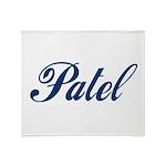 Patel name (blue) Throw Blanket