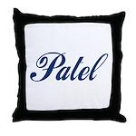 Patel name (blue) Throw Pillow