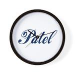 Patel name (blue) Wall Clock