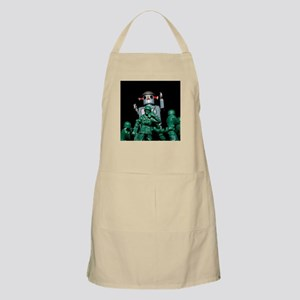 Army men and Giant Robot. Apron