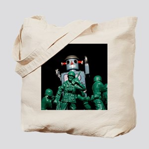 Army men and Giant Robot. Tote Bag