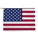 American Flag Makeup Pouch