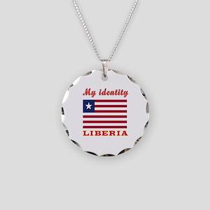 My Identity Liberia Necklace Circle Charm