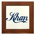 Khan (blue) Framed Tile