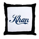 Khan (blue) Throw Pillow