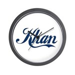 Khan (blue) Wall Clock