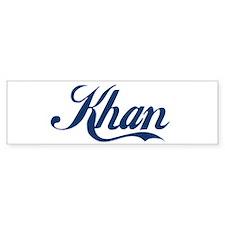 Khan (blue) Bumper Sticker