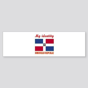 My Identity Dominican Republic Sticker (Bumper)
