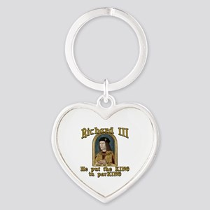 Richard III CarPark Humor Heart Keychain