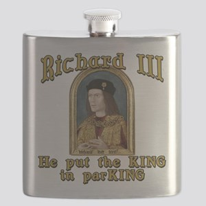 Richard III CarPark Humor Flask