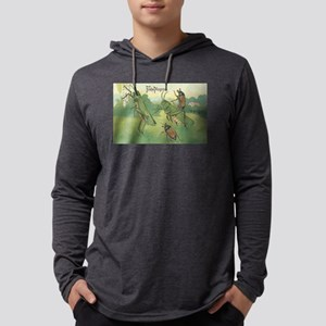 Grasshoppers Playing Mens Hooded Shirt