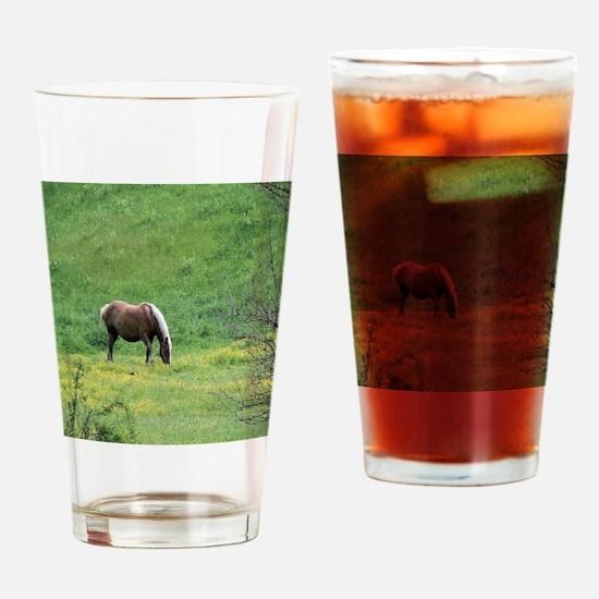 Amish Draft Horse Drinking Glass