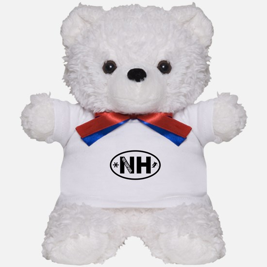 New Hampshire Winter Skiing and Snowflakes Teddy B