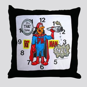 time for potman Throw Pillow