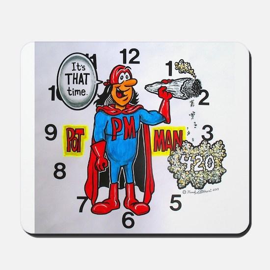 time for potman Mousepad