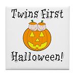 Twins First Halloween Tile Coaster