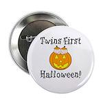 Twins First Halloween Button
