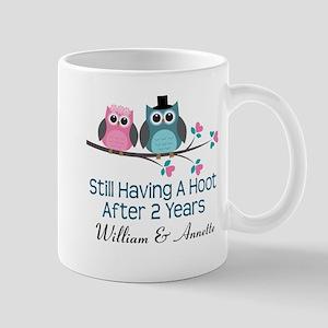 2nd Anniversary Personalized Gift Mugs