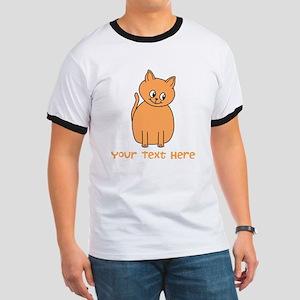 Orange Cat, Custom Text. T-Shirt