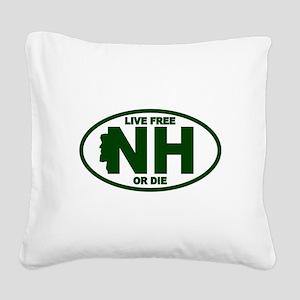 New Hampshire Live Free or Die Square Canvas Pillo