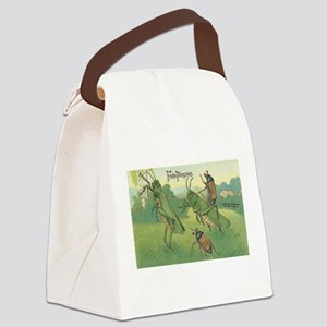 Grasshoppers Playing Canvas Lunch Bag