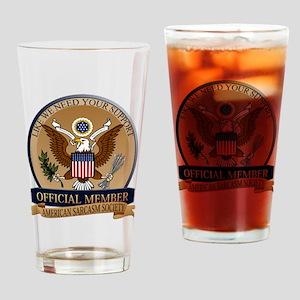American Sarcasm Society Drinking Glass