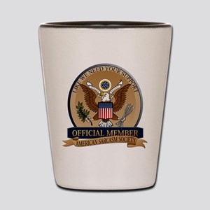 American Sarcasm Society Shot Glass