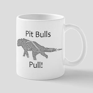 pit bulls pull Mug