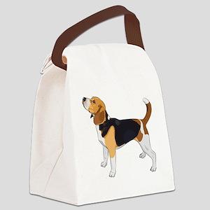 Vector Sketch Dog Beagle Breed - Canvas Lunch Bag