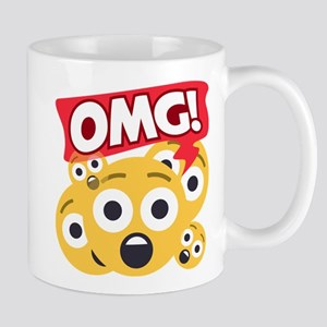 Emoji Shocked OMG 11 oz Ceramic Mug