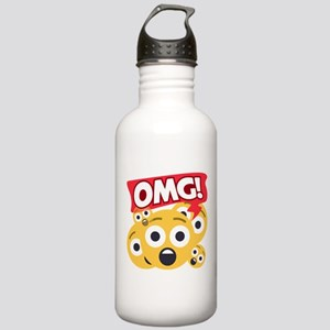 Emoji Shocked OMG Stainless Water Bottle 1.0L