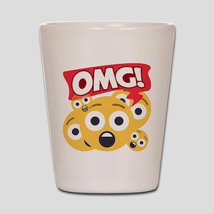 Emoji Shocked OMG Shot Glass
