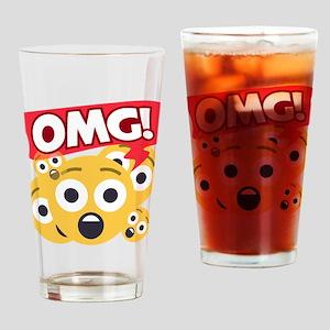 Emoji Shocked OMG Drinking Glass